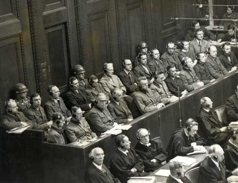 defendants.jpg: Defendants at Nuremberg